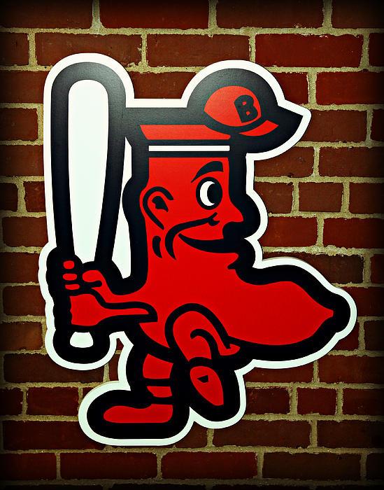Boston Red Sox 1950s Logo Print by Stephen Stookey