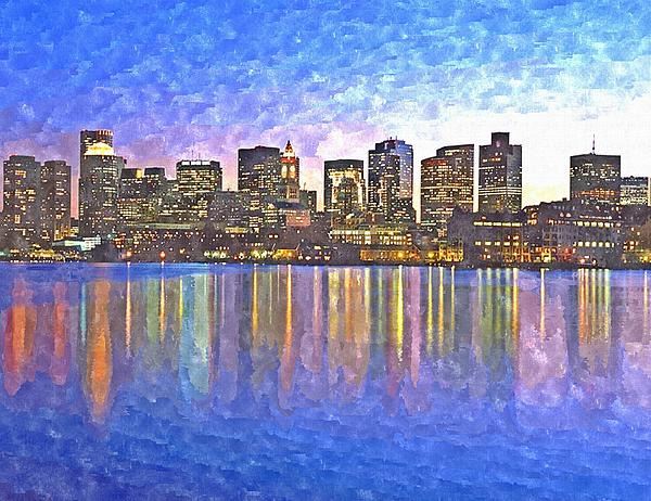 Rachel Niedermayer - Boston skyline by night