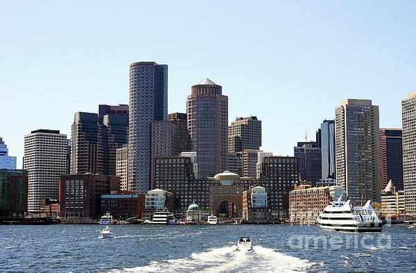 Boston Skyline Print by David Gardener