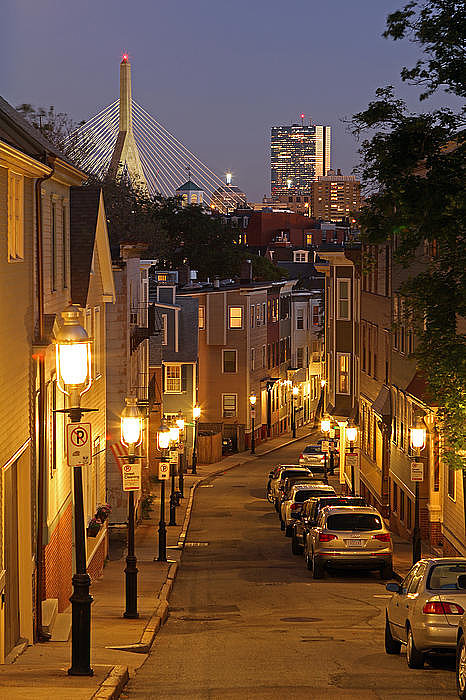 Boston View From Charlestown Print by Juergen Roth