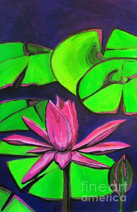 Botanical Lotus 1 Print by Grace Liberator