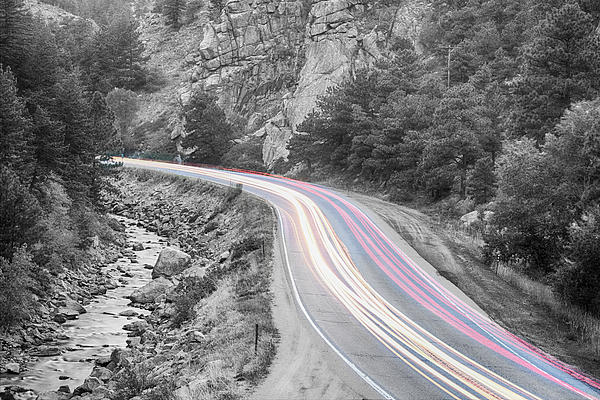 Boulder Canyon Drive And Selective Commute  Print by James BO  Insogna