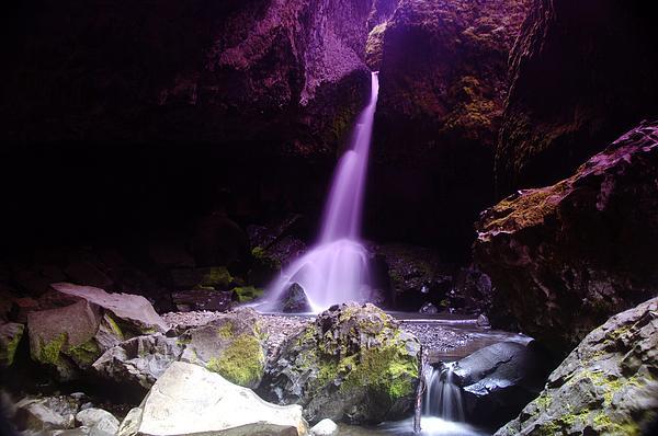 Boulder Cave Falls  Print by Jeff  Swan