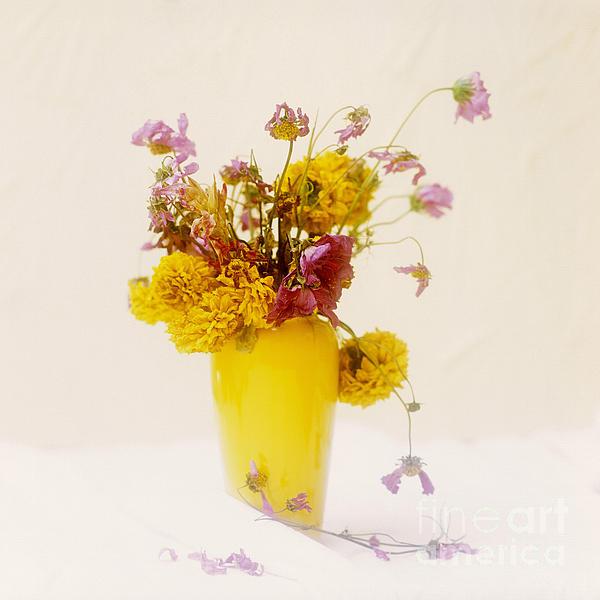 Bouquet Of Flowers Print by Bernard Jaubert