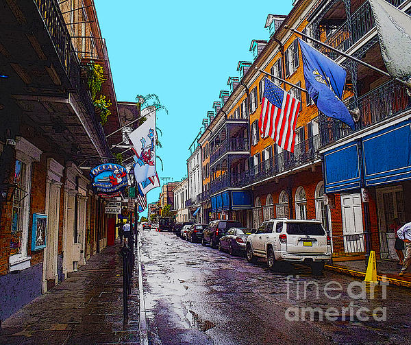 Bourbon Street Print by Carey Chen