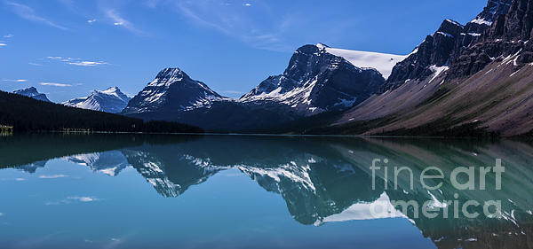 Bow Lake Reflecting Print by Scotts Scapes