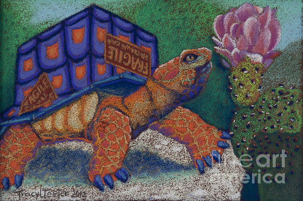 Box Turtle Print by Tracy L Teeter