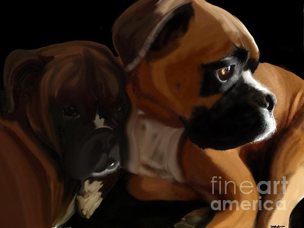 Boxer Brothers Print by Christina Kulzer