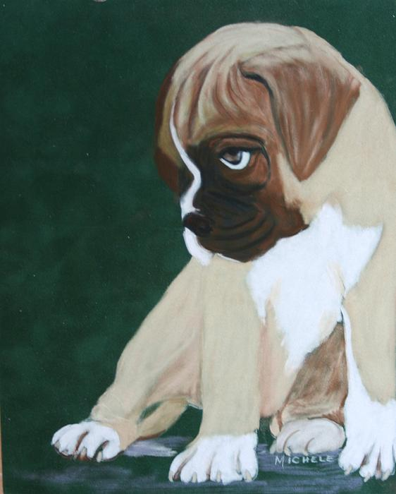 Boxer Pup Print by Michele Turney
