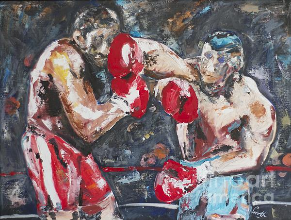 Boxers Print by Garth Bayley