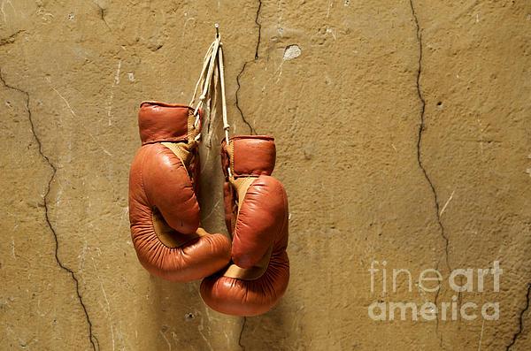 Boxing Gloves Print by Bernard Jaubert