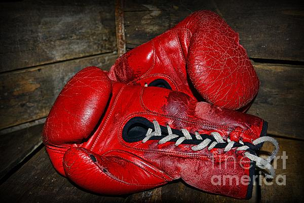 Boxing Gloves Print by Paul Ward