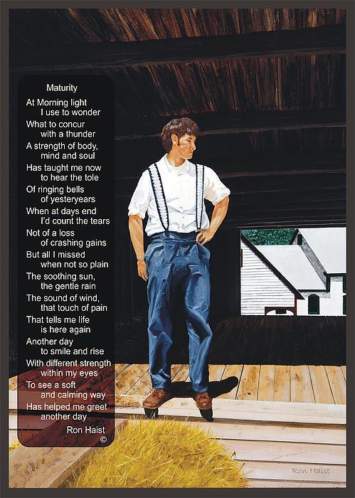 Boy In The Barn / Maturity Print by Ron Haist