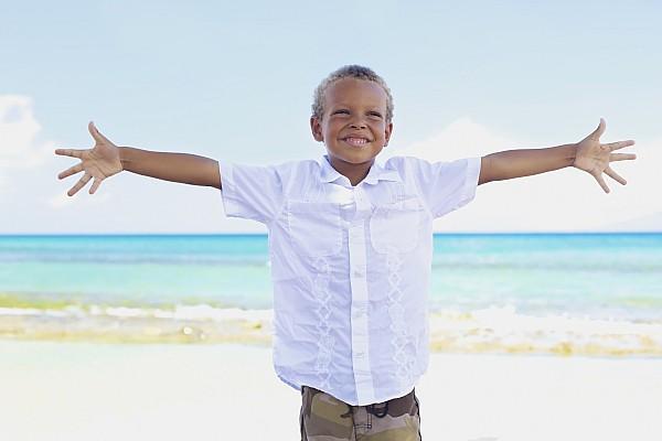 Boy On Beach Print by Kicka Witte