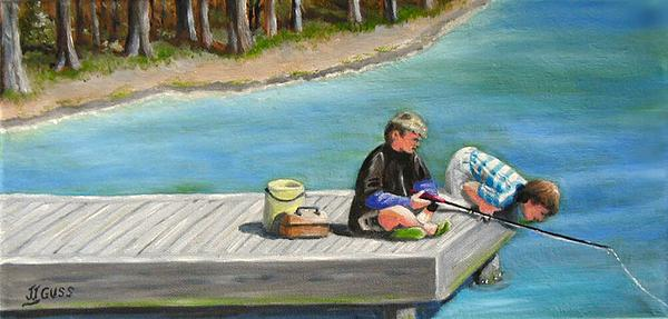 Janet Guss - Boys Fishing