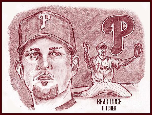 Brad Lidge Print by Chris  DelVecchio