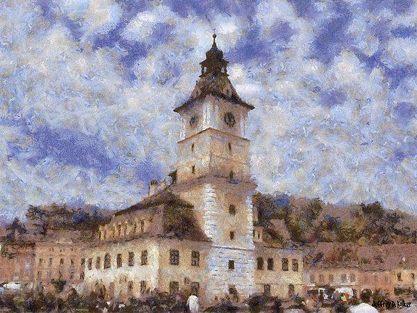 Brasov City Hall Print by Jeff Kolker