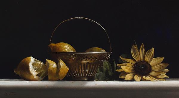 Brass Basket No.2 Print by Larry Preston
