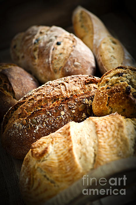 Bread Loaves Print by Elena Elisseeva