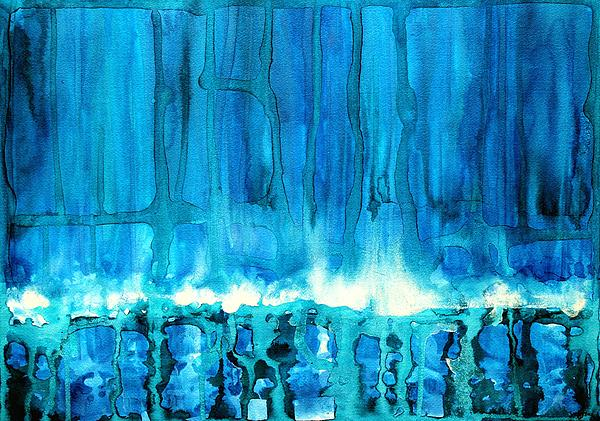 Breakers Off Point Reyes Original Painting Print by Sol Luckman