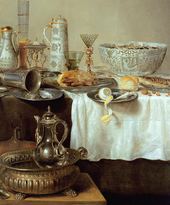 Breakfast Still Life Print by Willem Claesz Heda