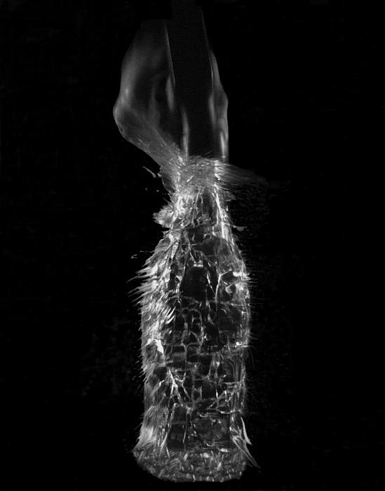 Breaking Glass Print by Alfredo Martinez