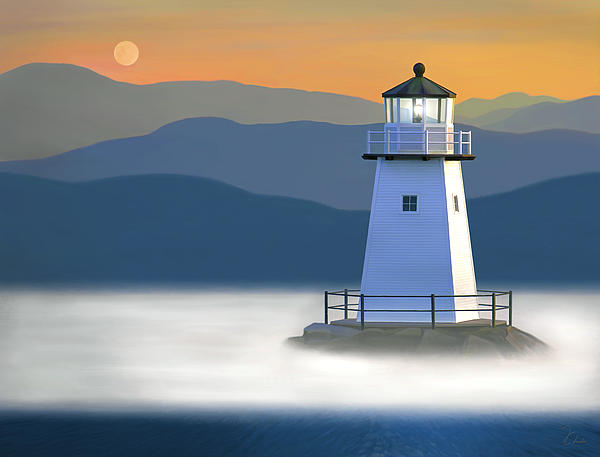Breakwater Light Print by James Charles