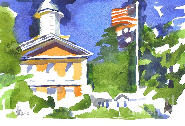 Breezy Morning At The Courthouse Print by Kip DeVore