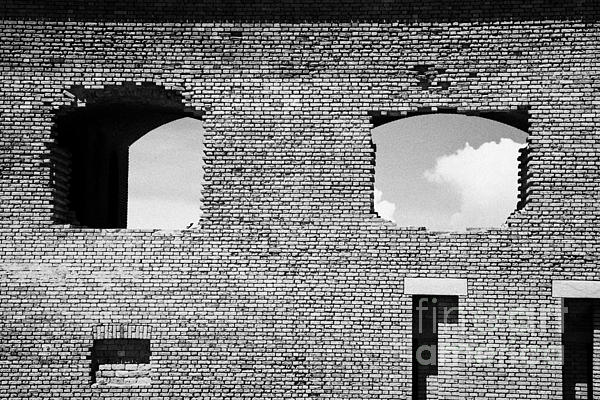 Brick Construction Of The Walls Of Fort Jefferson Dry Tortugas National Park Florida Keys Usa Print by Joe Fox