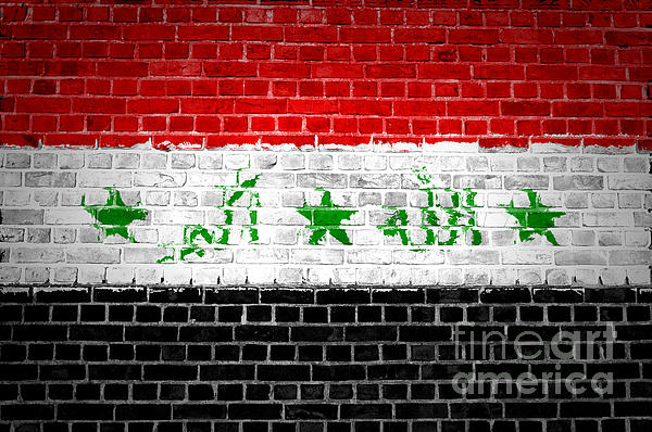Brick Wall Iraq Print by Antony McAulay
