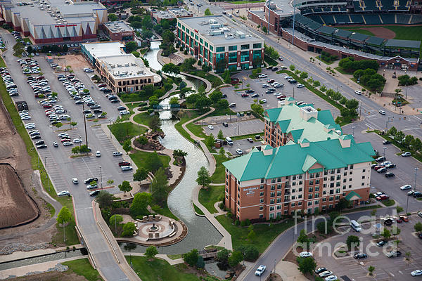 Bricktown Ballpark C Print by Cooper Ross