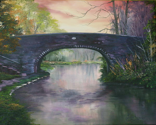 Bridge 91 At Fradley Canal Staffordshire Uk Print by Jean Walker