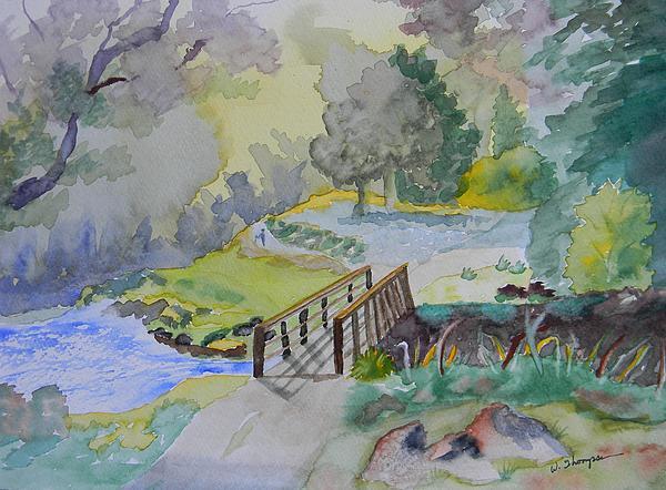 Bridge Near Enniskerry Ireland Print by Warren Thompson