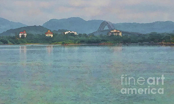 Bridge Of The Americas From Casco Viejo - Panama Print by Julia Springer