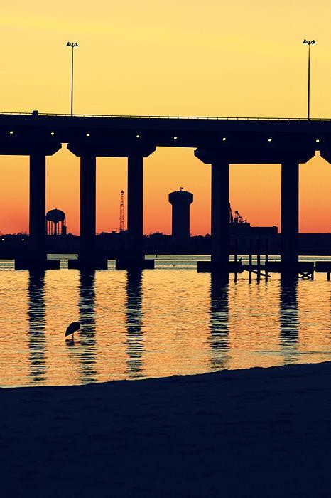 Bridge Sunset Print by Hillery Bosarge