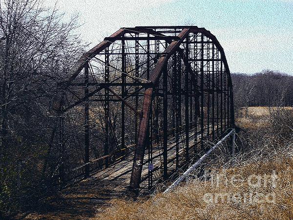 Bridge To Nowhere Print by R McLellan