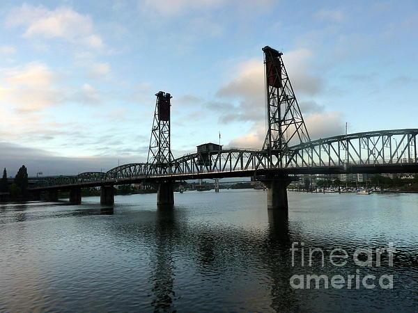 Bridging The River Print by Susan Garren