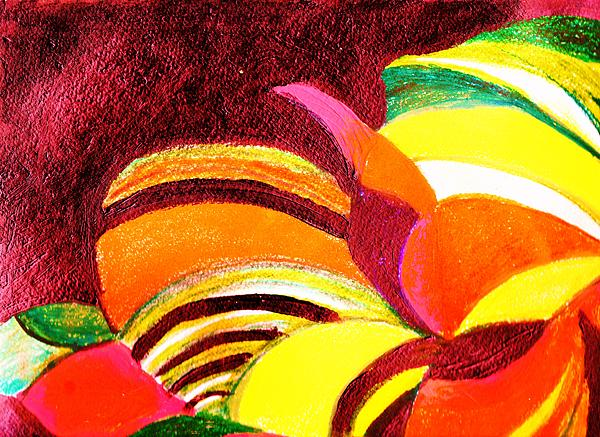 Bright Abstraction Print by Anne-Elizabeth Whiteway