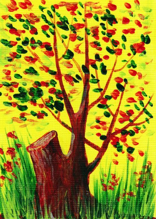 Bright Fall Print by Anastasiya Malakhova