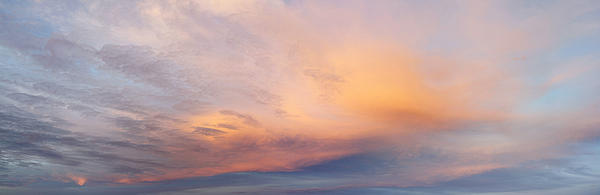 Bright Sunset Sky Print by Les Cunliffe