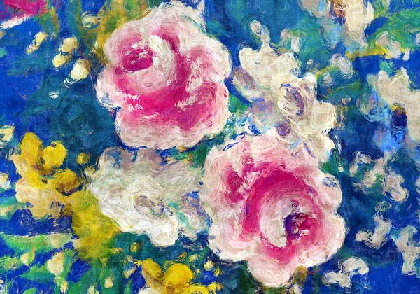 Brightly Floral Print by Susan Leggett
