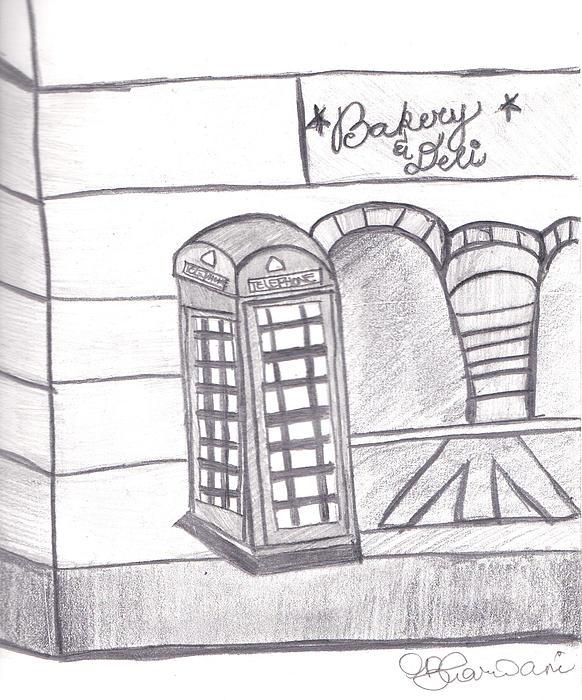 British Telephone Booth   Print by Melissa Vijay Bharwani