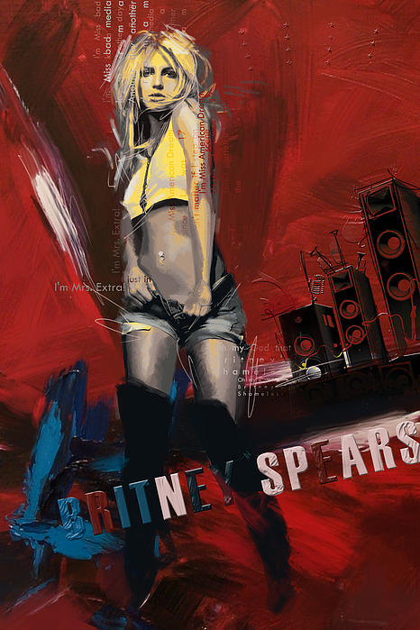Britney Spears Print by Corporate Art Task Force