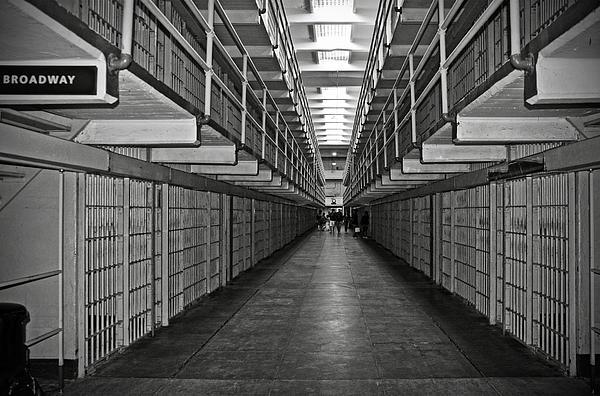 Broadway Walkway In Alcatraz Prison Print by RicardMN Photography