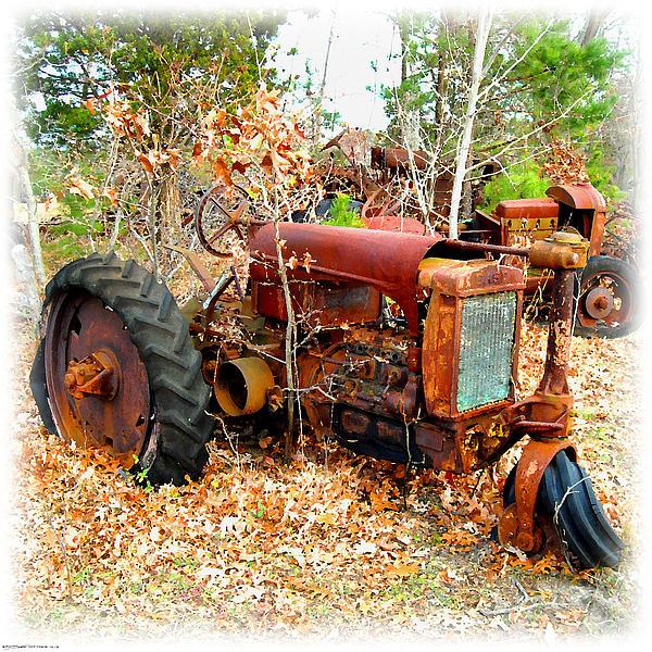 Tractor Broke Down : Broken down old tractor by k scott teeters
