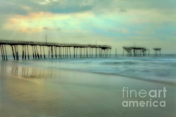 Broken Dreams - Frisco Pier Outer Banks II Print by Dan Carmichael