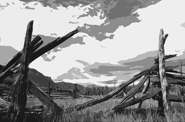 Broken Fence Print by Jack McAward