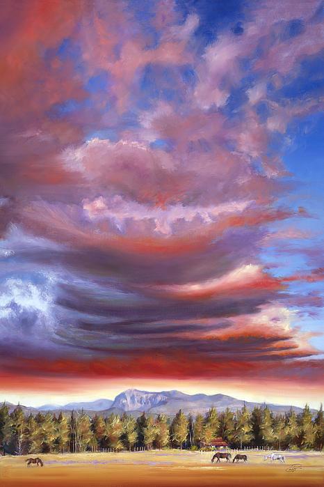 Brooding Storm I Print by Pat Cross