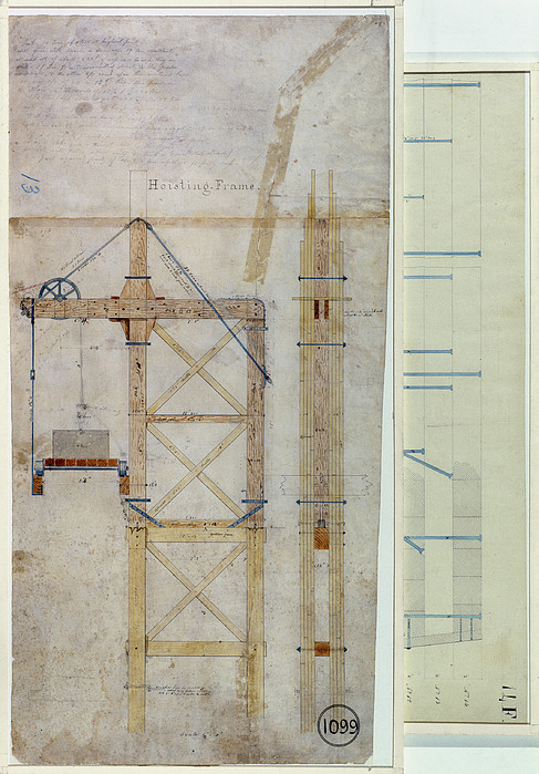 Brooklyn Bridge: Diagram Print by Granger
