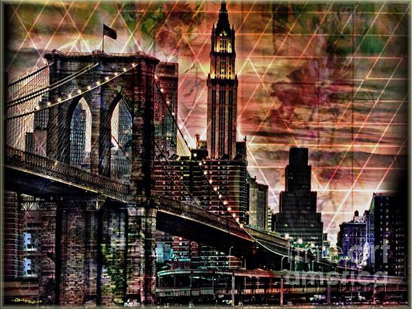 Brooklyn Bridge II Print by Christine Mayfield